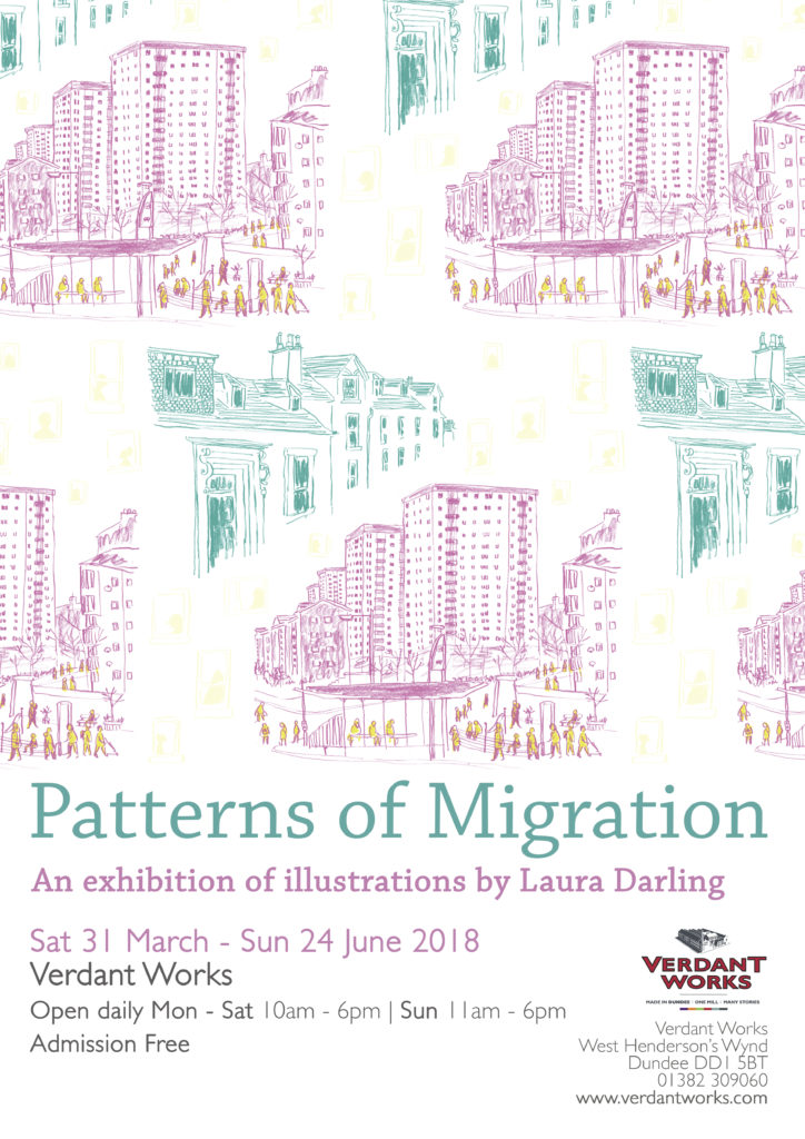 Featured image of Patterns of Migration: An Exhibition of Illustrations by Laura Darling